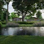 The Meadow CGI pond